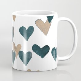 Valentine's Day Watercolor Hearts - neutral Coffee Mug