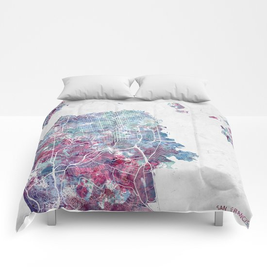 San Francisco map Comforters