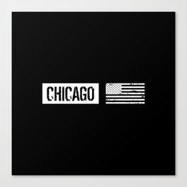 U.S. Flag: Chicago Canvas Print