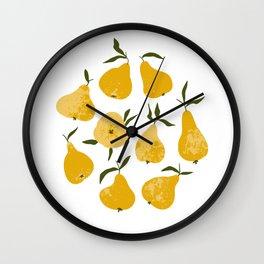 Yellow pear Wall Clock