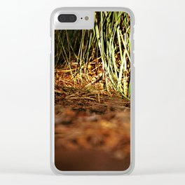 Macro close up forest life spying Clear iPhone Case