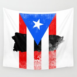 Puerto Rico + Flag Wall Tapestry