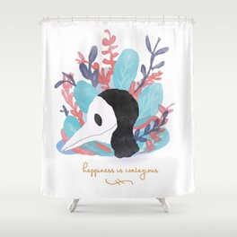 Happiness is Contagious Shower Curtain