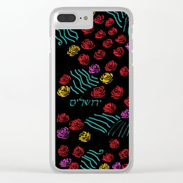 Yerushalyim and Roses Clear iPhone Case