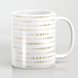Modern Gold Polka Dot Stripes Coffee Mug