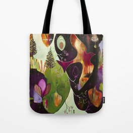 """Deep Peace"" Original Painting by Flora Bowley Tote Bag"