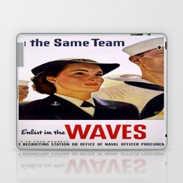 Vintage poster - Enlist in the Waves Laptop & iPad Skin