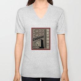 Choo Choo Choose Detroit Unisex V-Neck