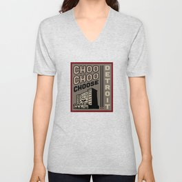 Choo Choo Choose Detroit Unisex V-Neck