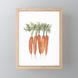 Carrots Watercolor Framed Mini Art Print