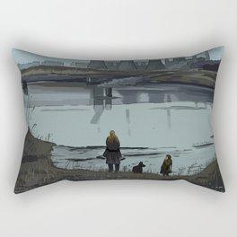 Andrei Tarkovsky´s Stalker Scene Illustration Rectangular Pillow