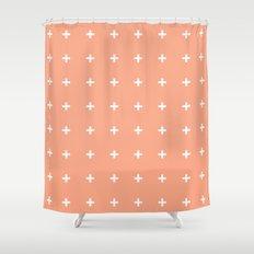 Peach Cross // Peach Plus Shower Curtain