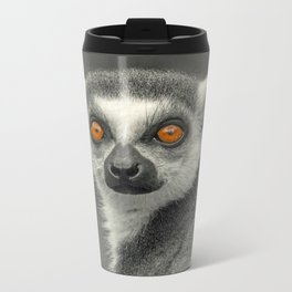 LEMUR PORTRAIT Metal Travel Mug
