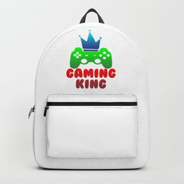 Gaming King Gamer Play Controller Konsole Online Backpack