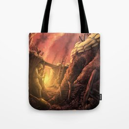 The Trenches of World War One (WW1) Tote Bag