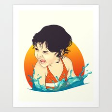 Water Splashes Art Print