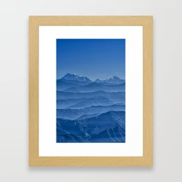 Blue Hima-layers Framed Art Print