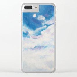 descending clouds Clear iPhone Case