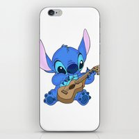 stitch iPhone & iPod Skins featuring Stitch by Christa Morgan ☽