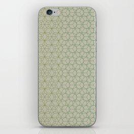 Tessellation - Culture Clash - Polytone Khaki / Sea-green iPhone Skin
