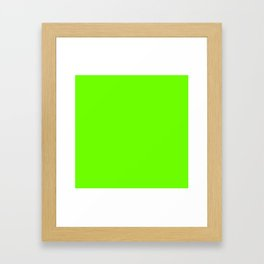 Bright Fluorescent  Green Neon Framed Art Print