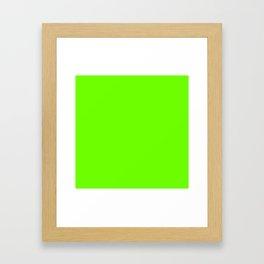 Bright Fluorescent  Green Neon Framed Art Print