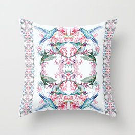 birds of paradise Throw Pillow
