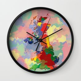 United Kingdom, Outline, Map Wall Clock