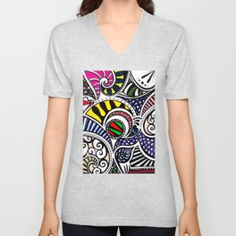 Swirly Gig Unisex V-Neck
