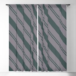 Magic Dust Muted Purple PPG13-24 Thick and Thin Angled Stripes on Night Watch PPG1145-7 Blackout Curtain