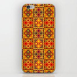 Heart of Africa Kente Cloth Pattern Print iPhone Skin