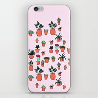 plants iPhone & iPod Skins featuring Plants by Kittymacdraws