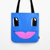 squirtle Tote Bags featuring Squirtle! by kltj11