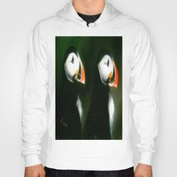 puffin Hoodies featuring PUFFIN PARADE by FOXART  - JAY PATRICK FOX