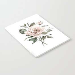 Faded Pink Rose Notebook