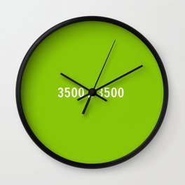 3000x2400 Placeholder Image Artwork (Ebay Green) Wall Clock