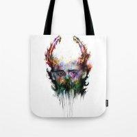 loki Tote Bags featuring loki by ururuty