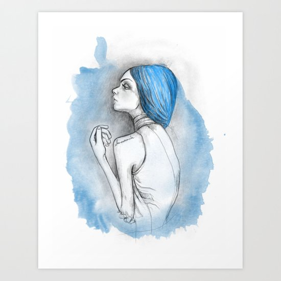 blue2 Art Print