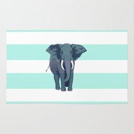 The Green Elephant Rug