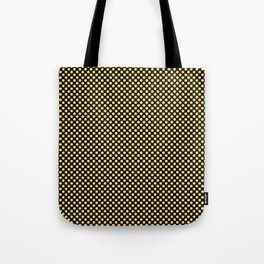 Black and Lemon Drop Polka Dots Tote Bag