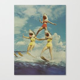 On Evil Beach - Sharks Canvas Print
