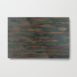 Beautifully patterned stained wood Metal Print