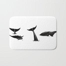 Whale flukes Bath Mat