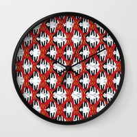 fries Wall Clocks featuring Piano Fries by dynamichappy
