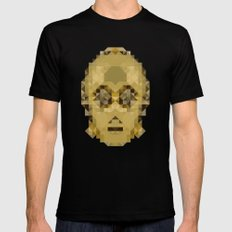 Star Wars - C-3PO Black LARGE Mens Fitted Tee