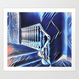 Eerie Paranormal Staircase Art Print