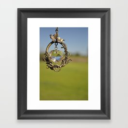 here's my heart Framed Art Print