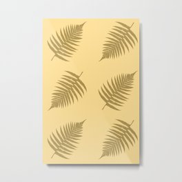 Fern pattern in cappuccino  Metal Print