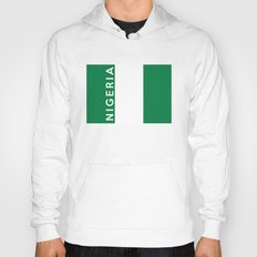 Nigeria country flag name text  Hoody