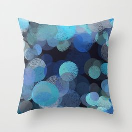 Dots of the sea Throw Pillow